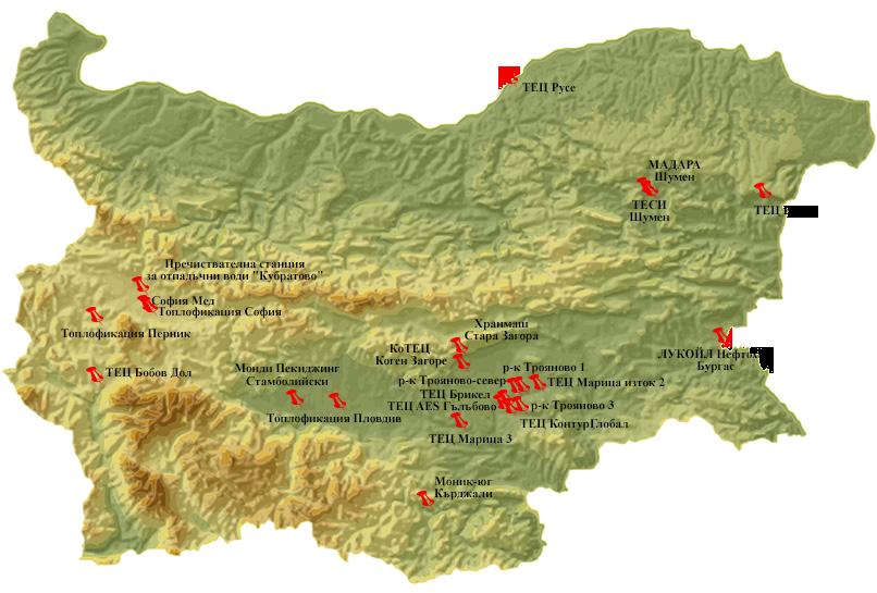 карта с обекти